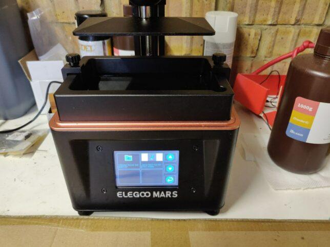 elegoo mars uv lcd resin printer