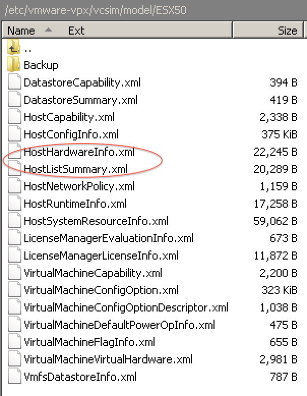 The files to update your default ESXi model