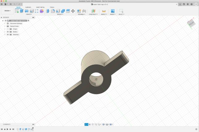 water tap design in fusion 360