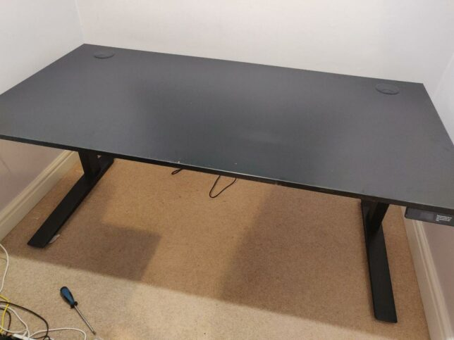 jarvis desk assembled and upright