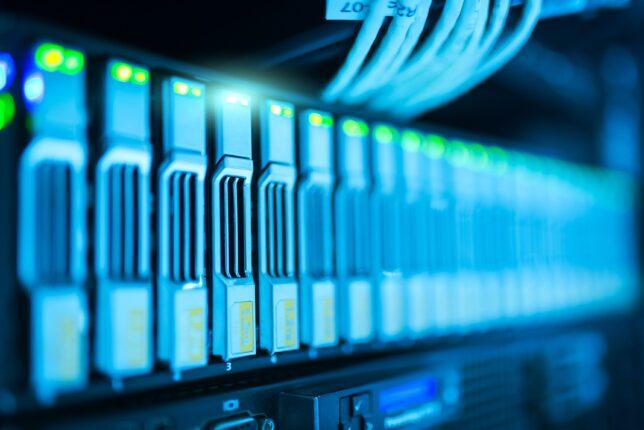 storage server in data center rack