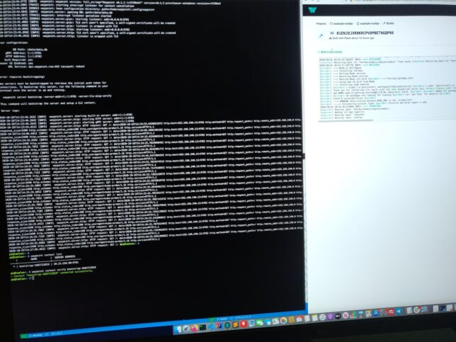 waypoint server running on raspberry pi