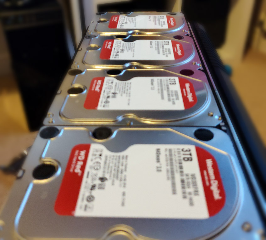 Western Digital 3TB Red hard drives